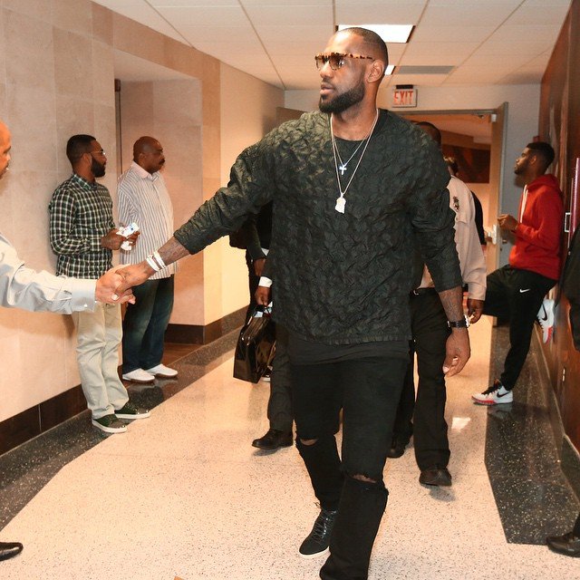 Lebron James Spotted In A 3.1 Phillip Lim Black Silk