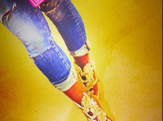 477fff0418b0d Foxy Brown s Instagram d Giuseppe Zanotti Metal Wing Sandals ...