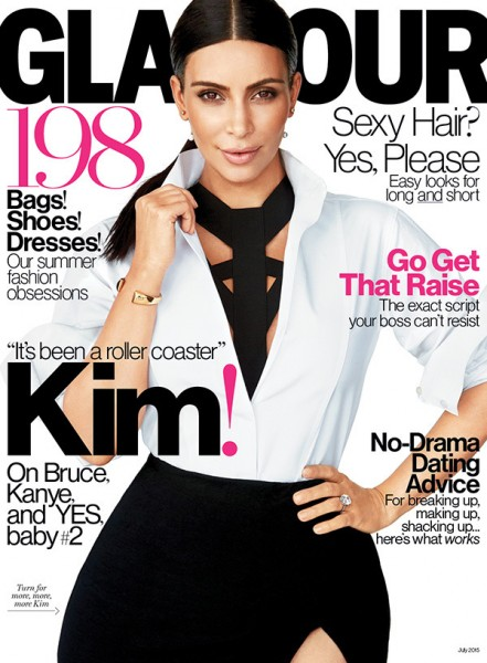 Kim Kardashian West Photographed By Patrick Demarchelier For Glamour July 2015 1