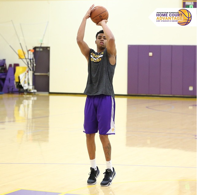 615bccc1440 Sneaker Endorsement  Los Angeles Lakers  Rookie D Angelo Russell ...