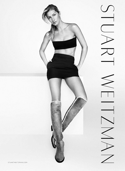 Gisele Bündchen Stars In Stuart Weitzman's Fall Winter 2015 Ad Campaign