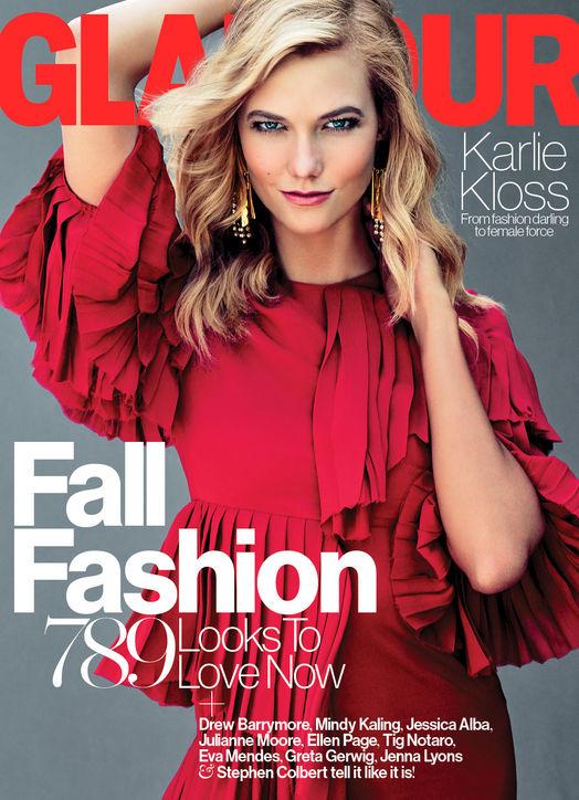 2d550311715 September 2015 Issue: Karlie Kloss Covers Glamour Magazine ...