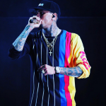 Chris Brown's $145 Opening Ceremony Kodak Stripe Long-Sleeve Tee