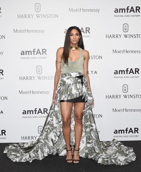 Ciara Attends amfAR Milano 2015 & The Roberto Cavalli SS16 Show At Milan Fashion Week2