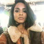Caira Wears A $1,995 Ralph Lauren Shearling Bomber Jacket & $1,100 Vicky Suede Booties At The Brand's NYFW Show