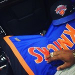 Fabolous Wears A Pair Of Just Don X Mitchell & Ness Shorts