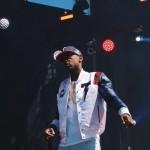 Stylish Rapper Fabolous In Tackma & Nike Air Huarache Run PRM 'City Pack' London Deep Royal Blue/University Red
