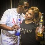 Lil Kim Wears A $245 Balmain Black Sleeveless Logo Tee-Shirt In Las Vegas