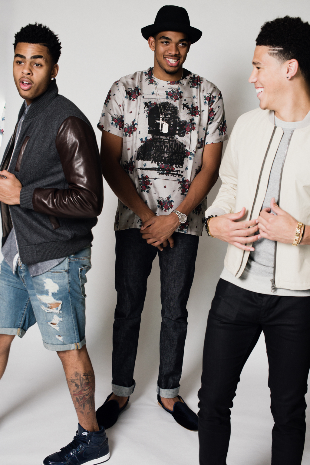 Nba Rookies Karl Anthony Towns D Angelo Russell Devin Booker For Wwd Donovan Moore Fashion Book