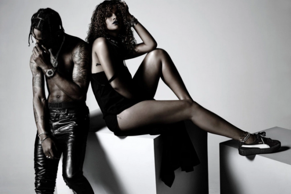 Rihanna's New Puma Ad Feartuing Travi$ Scott