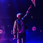 Chris Brown Performs In A $465 Opening Ceremony Varsity Jacket