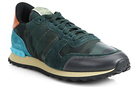 Chaussures De Sport De Camouflage Valentino Bleu Et Vert gv8gA