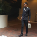 NBA Style: Bradley Beal In Balmain Tretch Cotton Fustian Jeans And Christian Louboutin Louis Men's Flat