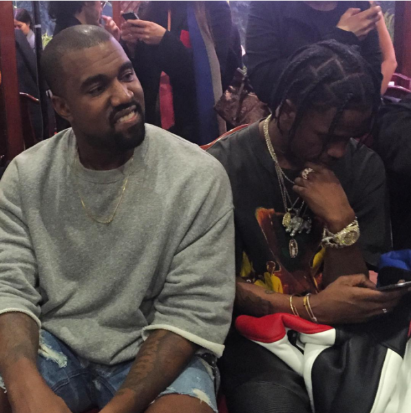 Kanye West And Travi$ Scott Attend Vetements' SS 2016 Show 1