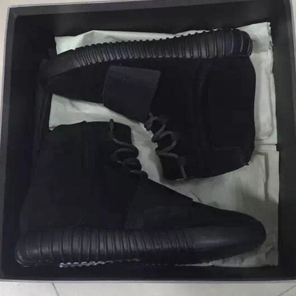 "Kanye West's The ""Blackout"" Yeezy Boost 750 Sneakers 3"
