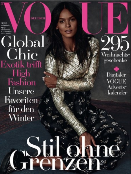 Liya Kebede Fronts Vogue Germany December 2015 Issue 1
