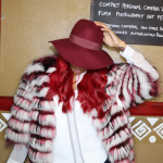 Monica Brown Wears A Helen Yarmak Fur Coat