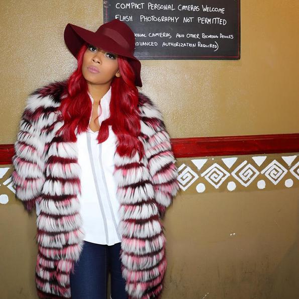 Monica Brown Wears A Helen Yarmak Fur Coat 2