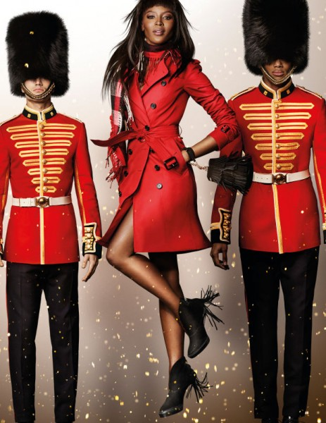 Naomi Campbell For Burberry's Holiday Campaign1