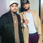 Chris Brown Spotted In A LNZ Clothing's 'The Dean Collection' Cardigan
