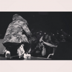 Rapper Future Performs In A Canada Goose Macmillan Hooded Parka Coat, Camo Green