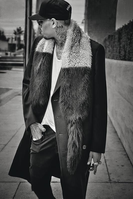 Chris Brown For L Uomo Vogue Magazine S December 2015 Issue