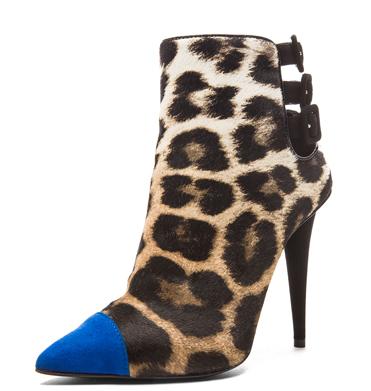 , Giuseppe Zanotti Brown Leopard Booties 1