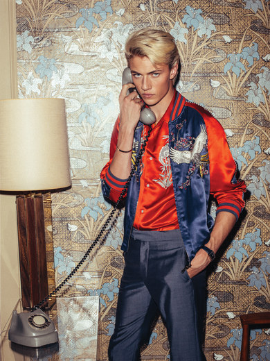 Model Lucky Blue Smith For GQ7