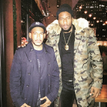 Winter Outerwear: Amar'e Stoudemire Rocks A Lord Studios French Fur-Lined Long Military Parka Camo Coat