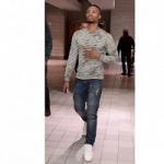 NBA Player Damian Lillard Spotted Wearing A Pair Of Embellish Elise Biker Denim Jeans