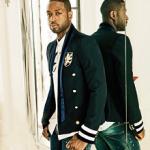 Dwyane Wade Poses For Ocean Drive Magazine In A Balmain Navy Slim-Fit Embellished Wool-Blend Jacket