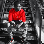 Kevin Hart's Saint Laurent Black & Red Leather High Top Sneakers