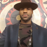 NBA Style: LeBron James And D'Angelo Russell Spotted In A Camo Sweater & Fedora