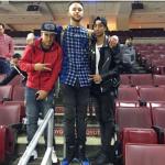 NBA Style: Kyle Anderson Dressed In Balmain Destroyed Stretch Denim Jeans & Saint Laurent Metallic Colorblocked High Top Sneakers