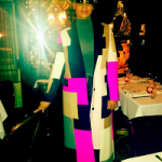 Styling In Manhattan: Lala Anthony's MSGM Patchwork Wool Blend Felt Coat
