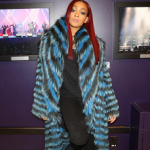Keeping Warm In The Cold: Monica Brown Wears A Helen Yarmak Fur Coat