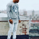 NFL Style: Victor Cruz Wears A Givenchy Cuban Rottweiler Needle Punch Sweater & His Nike Air Trainer Cruz Sneakers