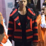 Empire Fashion: Bryshere Y. Grey Wears A Baja Striped Hooded Jacket From Alexander Wang's Men's F/W 15 Collection