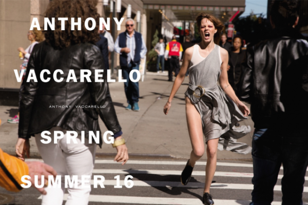Freja Beha Erichsen Fronts Anthony Vaccarello Spring Summer 2016 Ad Campaign1