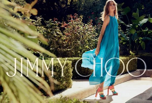 Jimmy Choo's Spring Advertisement Featuring Nadja Bender & David Alexande1