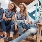 Lucky Blue Smith, Daisy Clementine, Francisco Lachowski & Frida Gustavsson Front Mavi's Spring/Summer 2016 Ad Campaign
