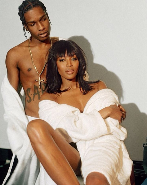 Naomi Campbell & A$AP Rocky For POP Magazine's Spring Summer 2016 Issue5