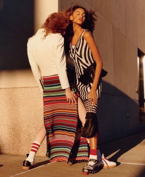 The January 2016 Issue Of Vogue Feature Models Imaan Hammam & Varya Shutova 7