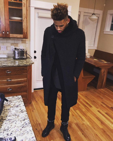 064c412b53948 Professional basketball player Allen Crabbe was recently spotted wearing a  pair of  835 Maison Margiela Future Leather High Top Sneakers.