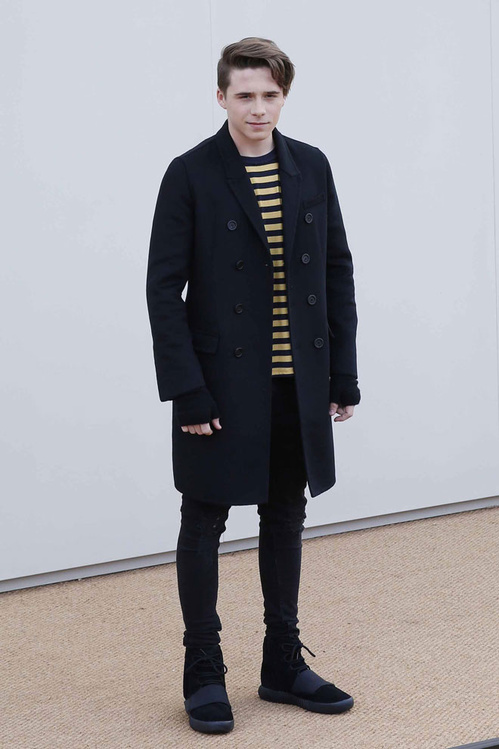 "691ddca0c4cb9 Brooklyn Beckham Draped In Burberry  Plus He Rocked ""Black"" adidas ..."