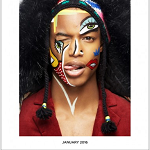 Model Of Color: Conrad Bromfield For MMSCENE January 2016 Issue