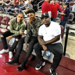 """NBA Style: Nick Young Wears A YEEZY Season 1 Brown & Green Camouflage Jacket And """"Black"""" adidas Originals x Yeezy Boost 750"""