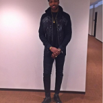 Get The Look: Tristan Thompson Spotted In A Balmain Hooded Padded Nylon & Cotton Sweatshirt And Biker Jeans