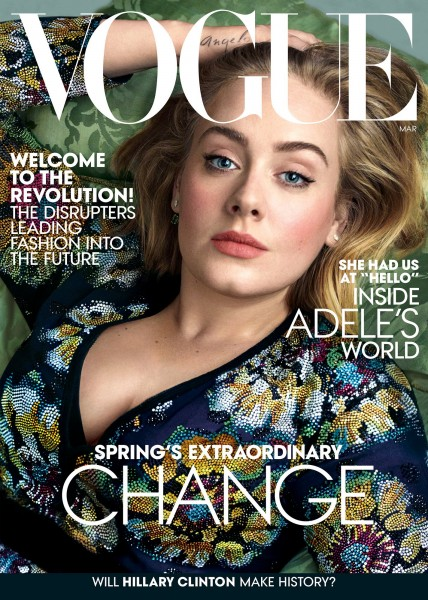Adele Covers The March 2016 Issue Of Vogue US8