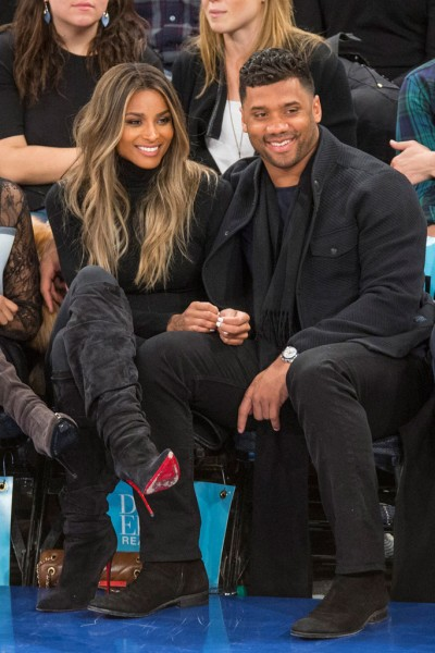 Ciara Sits Courtside At The Knicks Game In A Pair Of Christian Louboutin Ishtar Botta Ruched Suede Red Sole Boot2